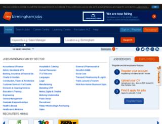mybirminghamjobs.co.uk screenshot
