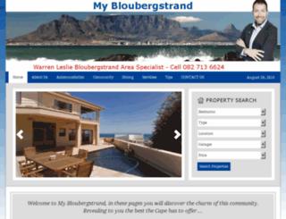 mybloubergstrand.co.za screenshot