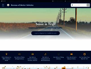 mybmv.in.gov screenshot