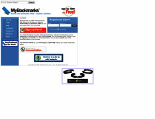 mybookmarks.com screenshot
