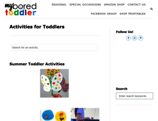 myboredtoddler.com screenshot