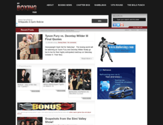 myboxingfans.com screenshot