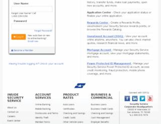 mybranch.ssfcu.org screenshot