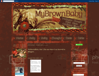 mybrownbaby.blogspot.com screenshot