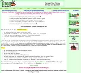 mybudgetplanner.com screenshot