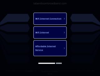 mybusiness.tataindicombroadband.com screenshot