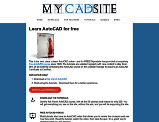 mycadsite.com screenshot