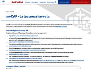 mycaf.it screenshot
