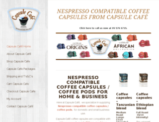 mycafecapsule.co.nz screenshot