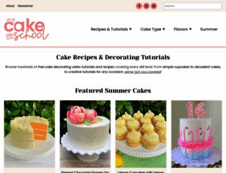 mycakeschool.com screenshot