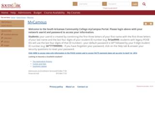 mycampus.southark.edu screenshot