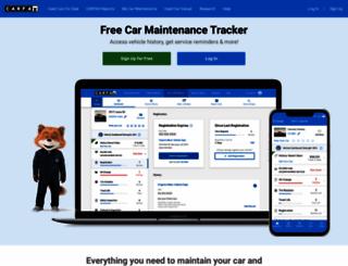 mycarfax.com screenshot