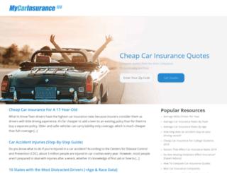 mycarinsurance123.com screenshot