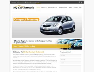 mycarrentals.com.au screenshot