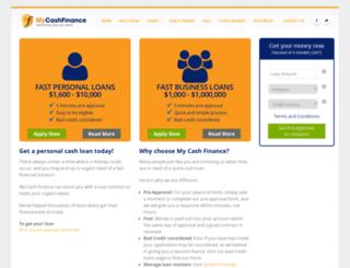 mycashfinance.com.au screenshot