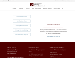 mycehd.tamu.edu screenshot