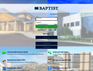 mychart.baptistonecare.org screenshot