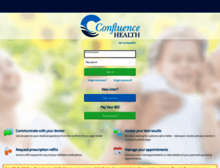 mychart.confluencehealth.org screenshot