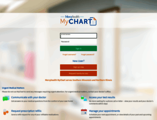 mychart.mercyhealthsystem.org screenshot