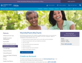 mychart.meriter.com screenshot