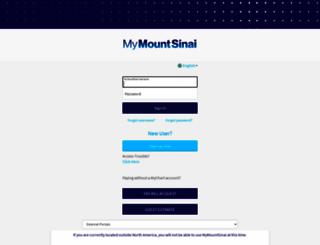 mychart.mountsinai.org screenshot