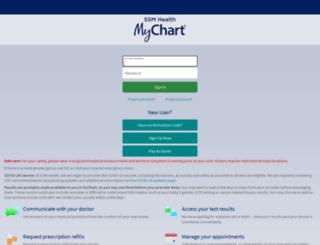 mychart.slucare.edu screenshot