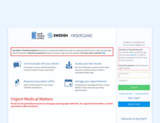mychart.swedish.org screenshot