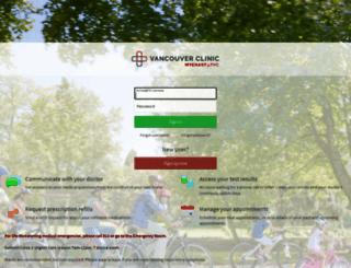 mychart.tvc.org screenshot