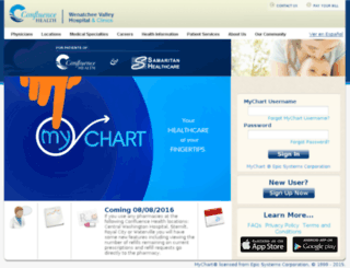 mychart.wvmedical.com screenshot