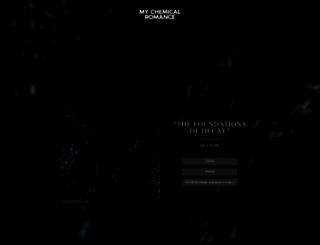 mychemicalromance.com screenshot