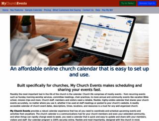 mychurchevents.com screenshot