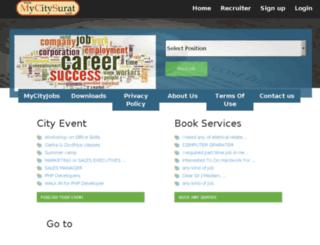 mycitysurat.in screenshot