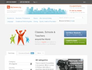 myclasses.org screenshot