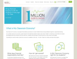 myclassroomeconomy.org screenshot