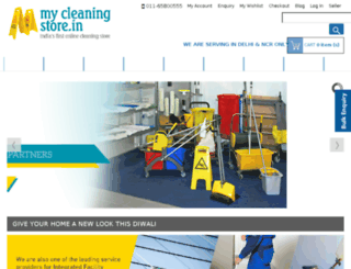 mycleaningstore.in screenshot