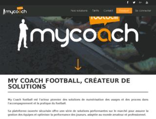 mycoachfoot.com screenshot
