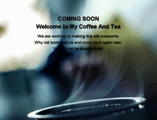 mycoffeeandtea.com screenshot