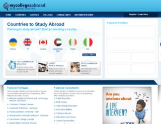 mycollegesabroad.com screenshot