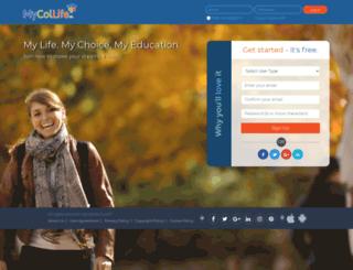 mycollife.com screenshot