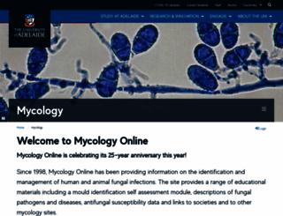 mycology.adelaide.edu.au screenshot