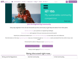 mycommunity.theiet.org screenshot
