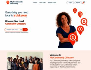 mycommunitydirectory.com.au screenshot