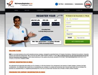mycompanyregistration.com screenshot