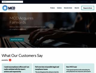 mycomplianceoffice.com screenshot