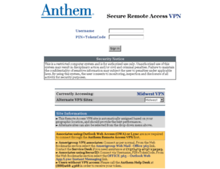 myconnection.antheminc.com screenshot