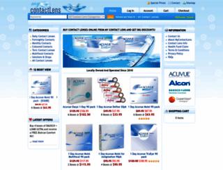 mycontactlens.com.au screenshot