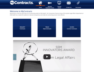 mycontracts.ssmhealth.com screenshot
