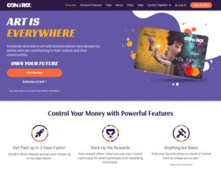 mycontrolcard.com screenshot