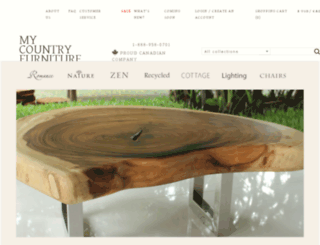 mycountryfurniture.com screenshot