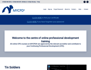 mycpd.co.za screenshot